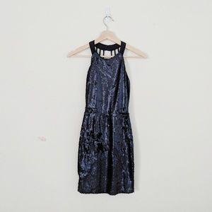 Lulu's | Navy Sequin Dress